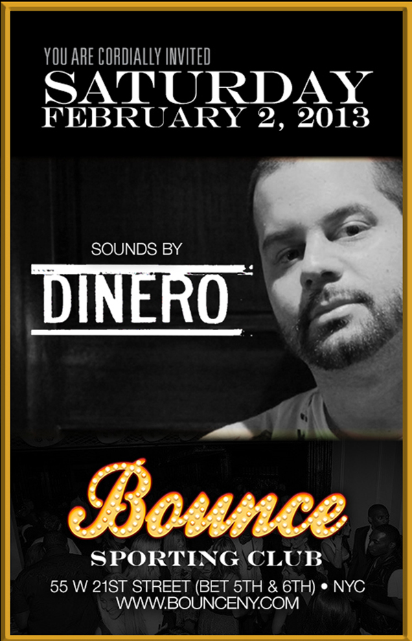 Saturday February 2ndBounce Sporting Club 55 West 21st Street NYC Sounds By DJ Rob