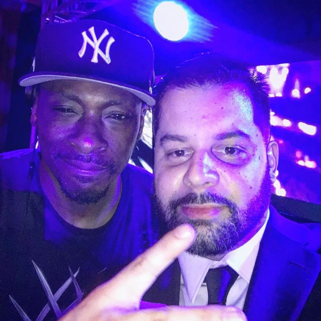 w the homie realpeterock on the set for williecolon66 amphellip