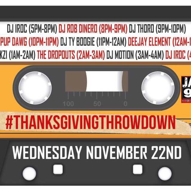 Tune into jamz963 tonight!! Ill be on from 800900PM!! ThanksgivingThrowdownhellip