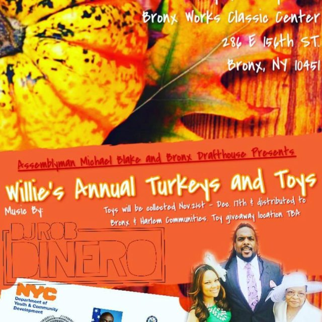 Tomorrow in the BX williecolon66s Annual Turkeys amp Toys!! Bronxhellip